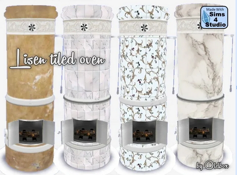 All4Sims: Tiled Oven   Kamin by  Oldbox