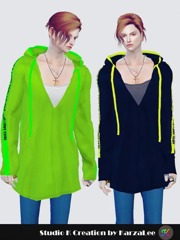 Studio K Creation: V neck hoodie top