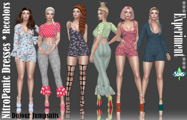 Annett`s Sims 4 Welt: Experiment Dujour Jumpsuits recolored
