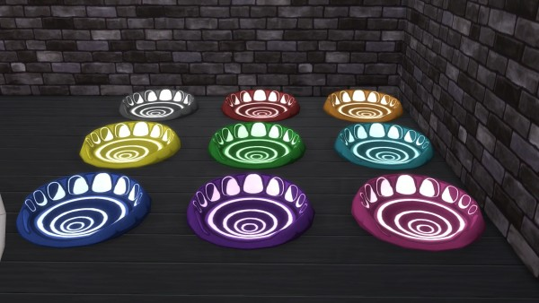 Mod The Sims: Glowing Magic Pet Bed by Serinion