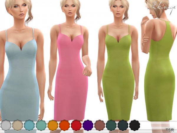 The Sims Resource: Racerback Cami Dress by ekinege