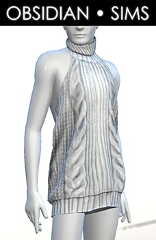 Obsidian Sims: Backless Sweater