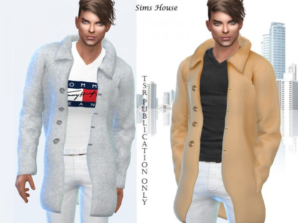 The Sims Resource: Mens coat winter by Sims House