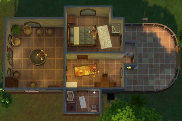 Blackys Sims 4 Zoo: Brook Starter House by mammut