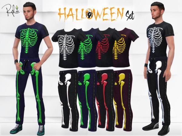 The Sims Resource: M Halloween Skeleton Set by RobertaPLobo