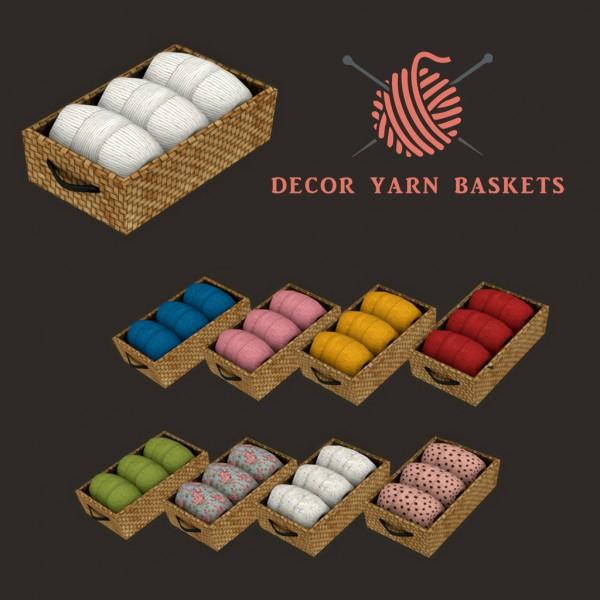 Leo 4 Sims: Yarn Baskets