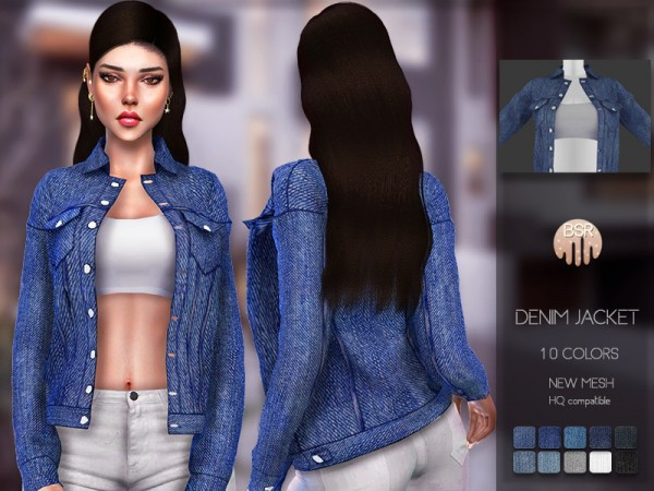 The Sims Resource: Denim Jacket BD119 by busra tr