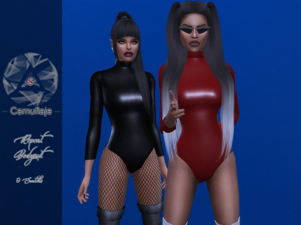 The Sims Resource: Repeat Bodysuit by Camuflaje