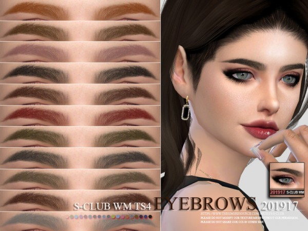 The Sims Resource: Eyebrows 201917 by S Club