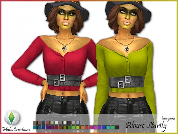 The Sims Resource: Blouse Starily by MahoCreations