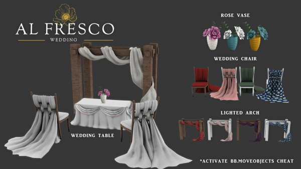 Leo 4 Sims: Alfresco Wedding