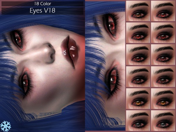 The Sims Resource: Eyes V18 by Lisaminicatsims