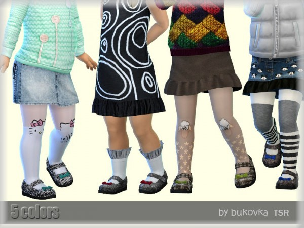 The Sims Resource: Tweed Shoes by bukovka
