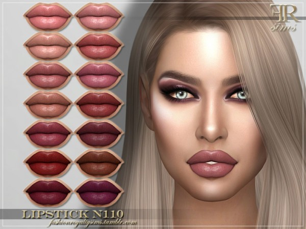 The Sims Resource: Lipstick N110 by FashionRoyaltySims