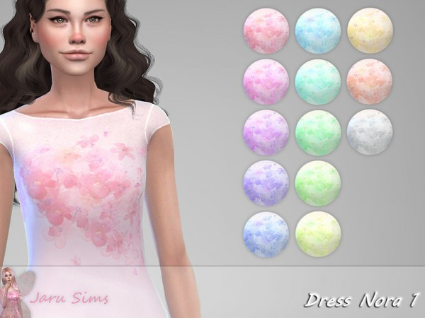 The Sims Resource: Dress Nora 1 by Jaru Sims