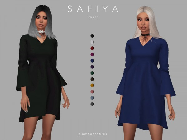 The Sims Resource: Safiya dress by Plumbobs n Fries