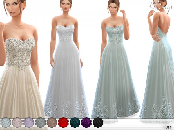 The Sims Resource: Wedding Gown by ekinege