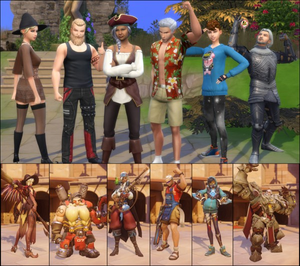 Mod The Sims: Overwatch Save File by LaLuvi