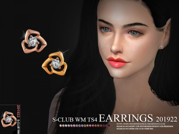 The Sims Resource: Earrings 201922 by S Club
