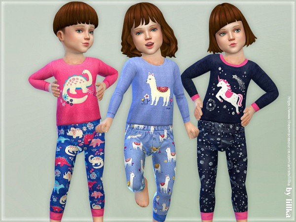The Sims Resource: Bedtime Cuddles Pyjama by lillka