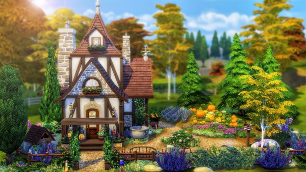 Luniversims: Tiny Witch house by  Cassie Flouf
