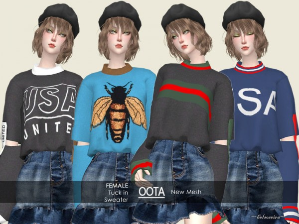 The Sims Resource: OOTA   Tuck in Sweater by Helsoseira
