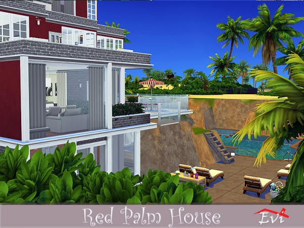 The Sims Resource: Red Palm House by evi