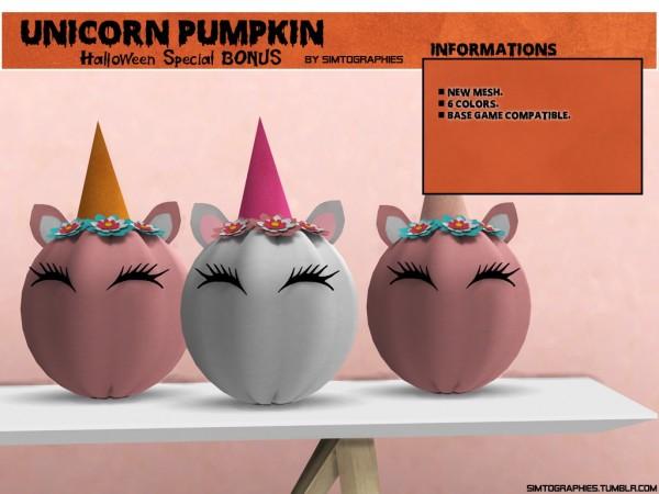 Simtographies: Unicorn Pumpkin