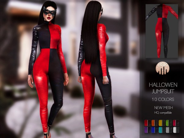 The Sims Resource: Hallowen Jumpsuit BD123 by busra tr