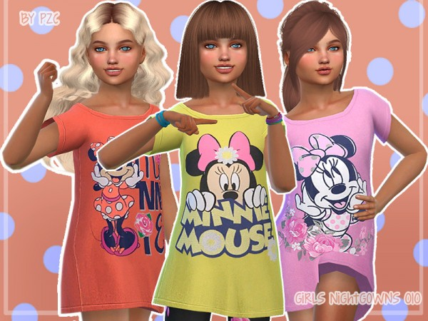 The Sims Resource: Nightgowns For Girls 010 by Pinkzombiecupcakes