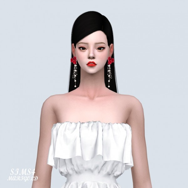 SIMS4 Marigold: Big Flower Fancy Earrings