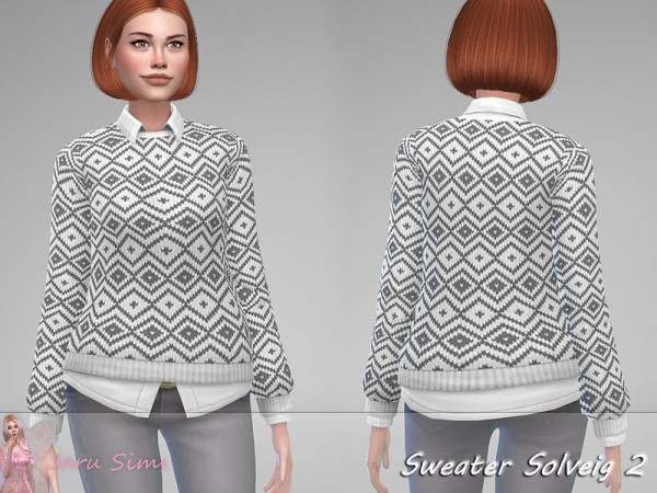 The Sims Resource: Sweater Solveig 2 by Jaru Sims