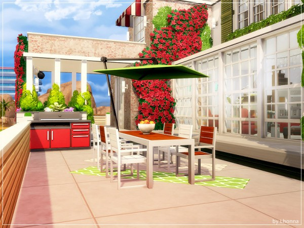 The Sims Resource: Bougainvillea Cottage House by Lhonna