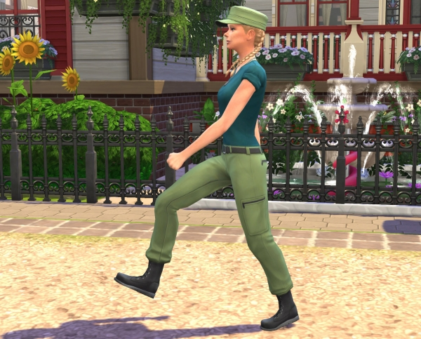 Sims Artists: Stranger Ville Career Militaire