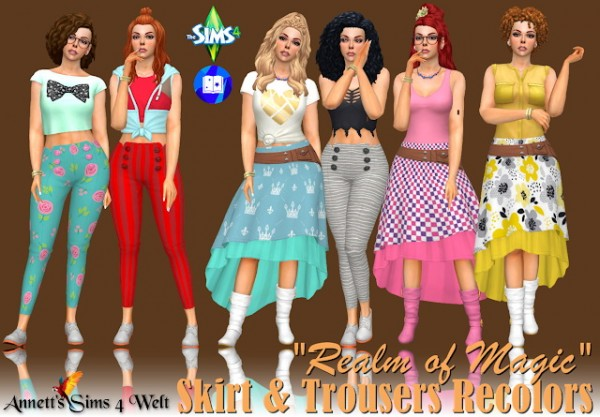 Annett`s Sims 4 Welt: Realm of Magic Skirt and Trousers Recolors