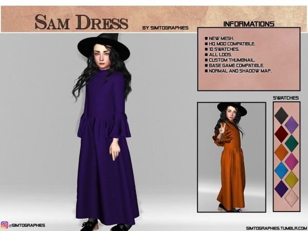 Simtographies: Sam Dress