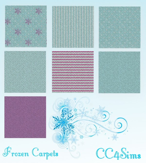 CC4Sims: Frozen carpets and walls