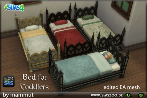 Blackys Sims 4 Zoo: Bed for Toddlers Goth by mammut