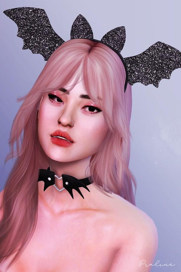 Praline Sims: Bat headband