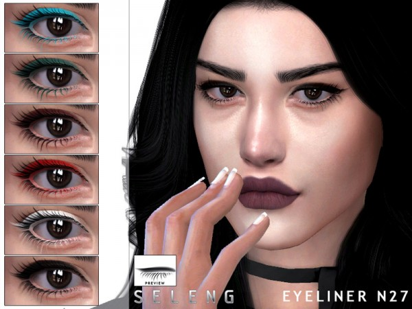 The Sims Resource: Eyeliner N27 by Seleng