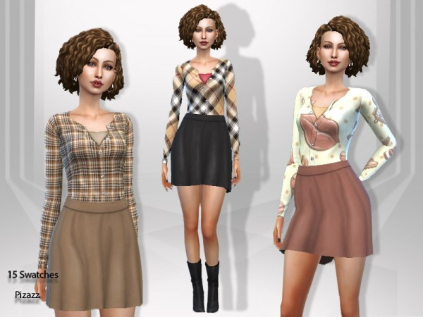 The Sims Resource: Autumn Dress by pizazz