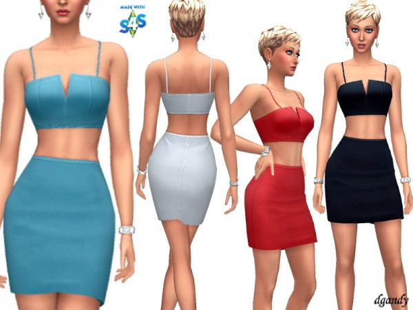 The Sims Resource: Skirt and Top 201909 05 by dgandy