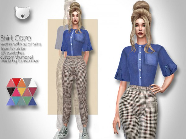 The Sims Resource: Shirt C070 by turksimmer