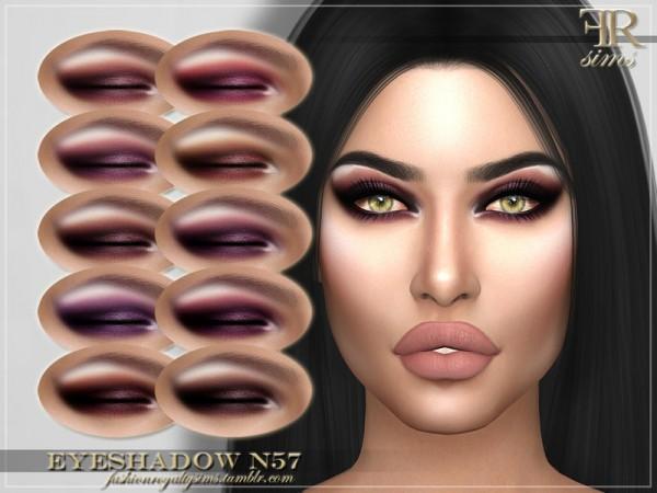 The Sims Resource: Eyeshadow N57 by FashionRoyaltySims