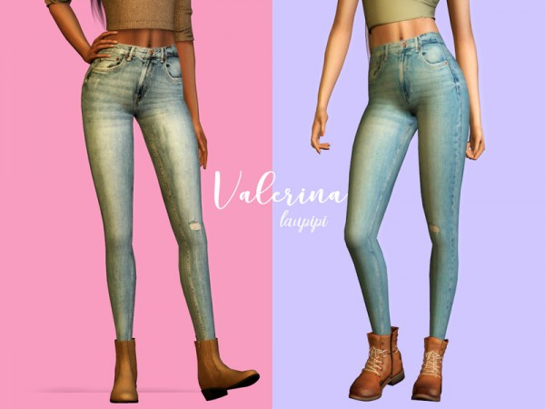 The Sims Resource: Valerina Jeans by laupipi