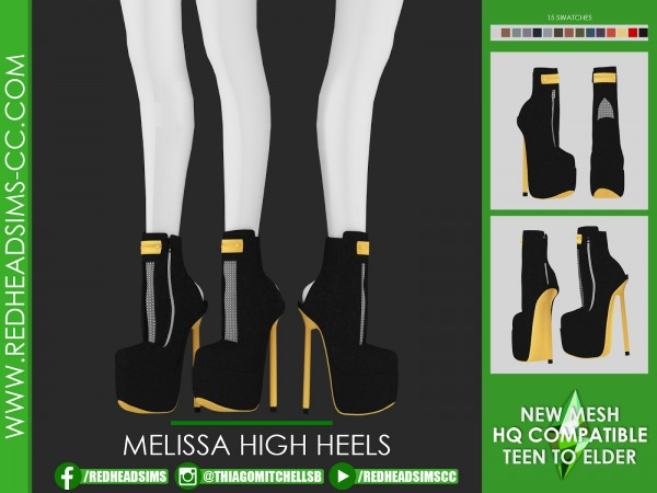 Red Head Sims: Melissa high heels