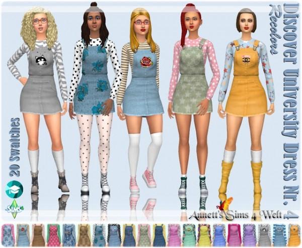 Annett`s Sims 4 Welt: Discover University Dress Nr. 4   Recolors