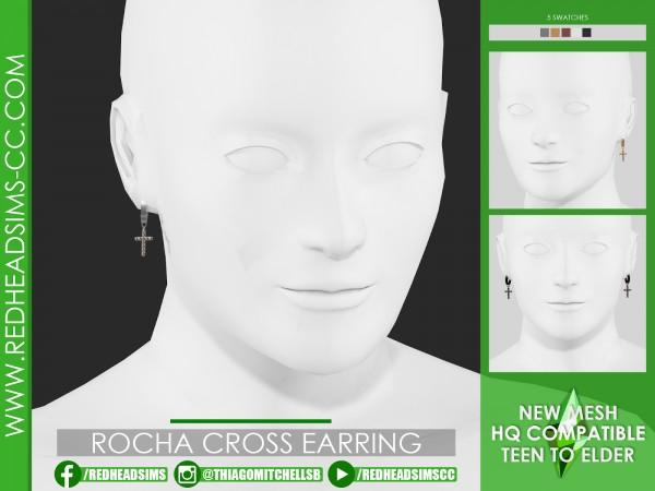 Red Head Sims: Rocha cross earrings
