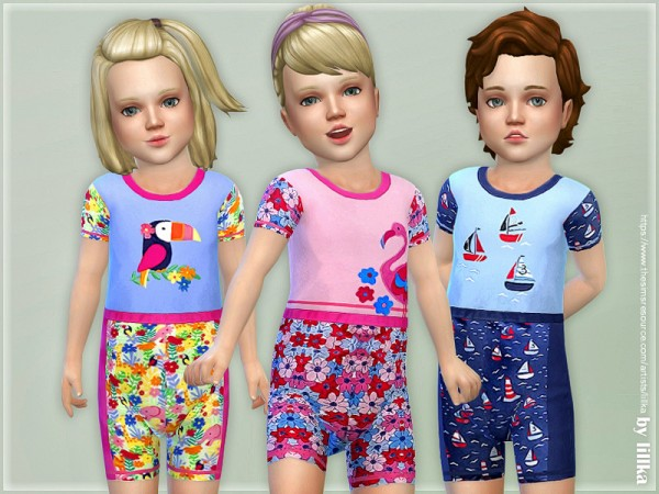 The Sims Resource: Swimming Suit for Toddler by lillka