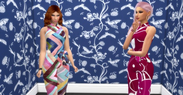 Sims4cccreator: Rose Dress Recolored